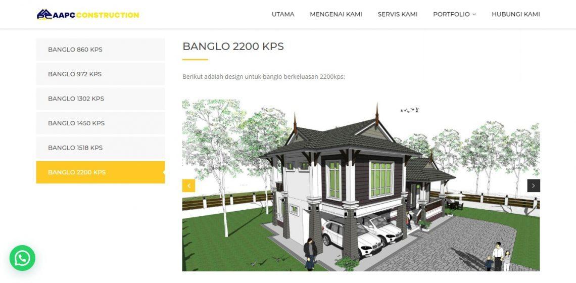 Divilopers AAPC Construction Design Rumah Banglo 2200kps